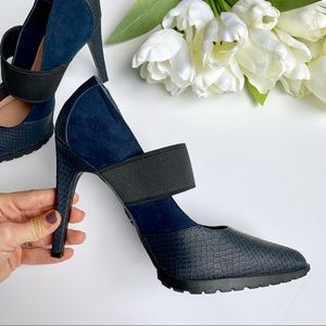 Simply Vera Wang | Navy & Black Heels sz 8 1/2